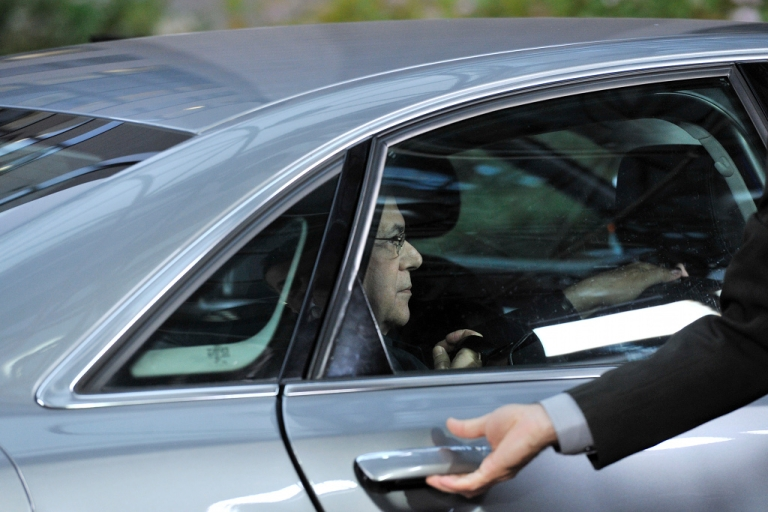 <p>Wonder what he's thinking? Greek Prime Minister Lucas Papademos arrives for his first EU summit.</p>