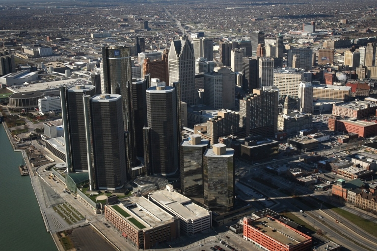 <p>Downtown Detroit. The Midwest, including the Motor City, has seen the largest increase of concentrated poverty, according to a report from the Brookings Institute</p>