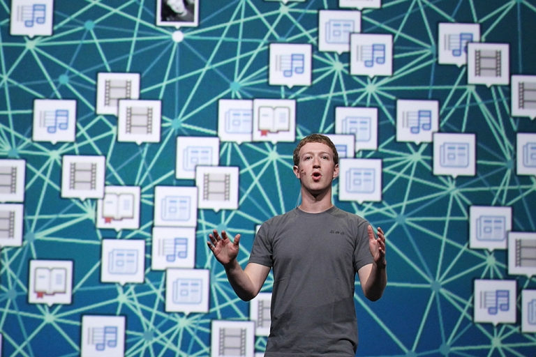 <p>Facebook CEO Mark Zuckerberg delivers a keynote address during the Facebook f8 conference on September 22, 2011 in San Francisco, California. With Facebook Exchange, Zuckerberg plans to revamp the social network's approach to advertising.</p>