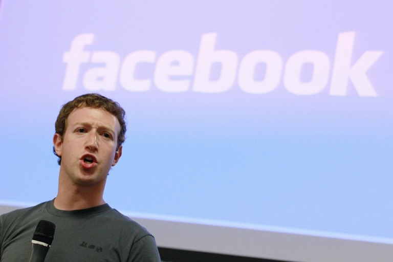 <p>Facebook founder and CEO Mark Zuckerberg at a News conference in October 2010.</p>