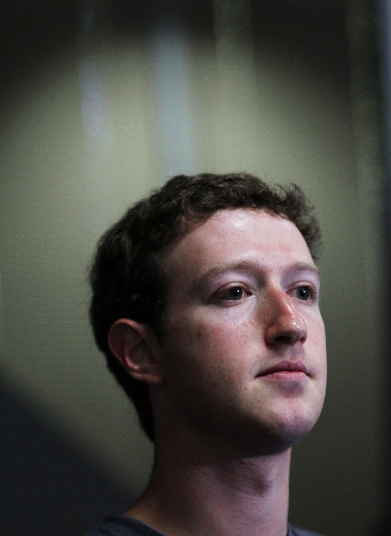 <p>Facebook CEO Mark Zuckerberg speaks during a news conference at Facebook headquarters on July 6, 2011 in Palo Alto, California. Facebook advertisements have recently come under critical scrutiny.</p>
