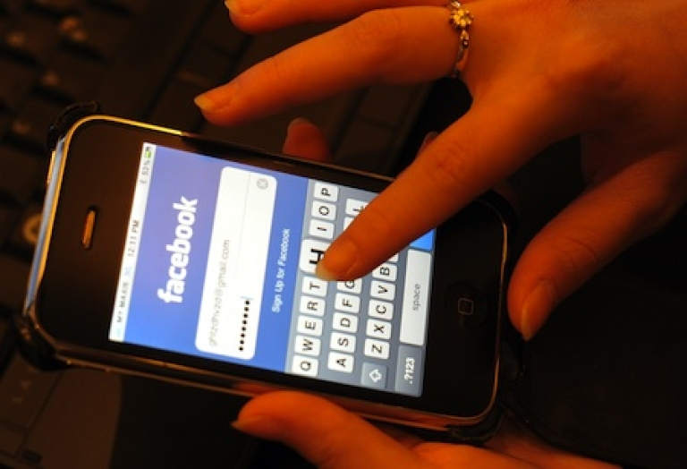 <p>A Malaysian professional uses Facebook in Kuala Lumpur on October 31, 2010.</p>