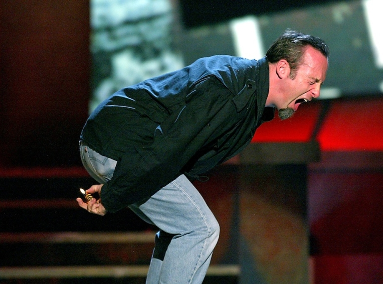 <p>LOS ANGELES - NOVEMBER 22 2003: Actor Bob Odenkirk farts during Comedy Central's First Ever Awards Show 'The Commies' at Sony Pictures Studios in Culver City, California.</p>