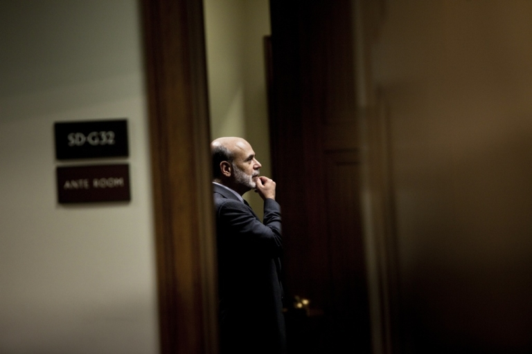<p>Federal Reserve Chairman Ben Bernanke on Capitol Hill July 21, 2010, in Washington, DC on July 21, 2010.</p>
