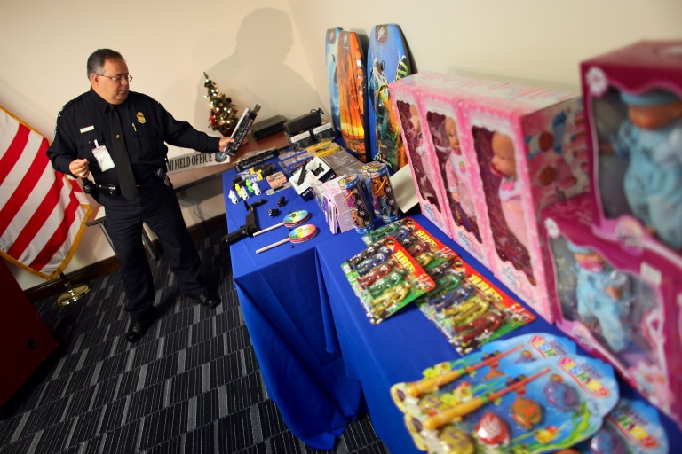 <p>Feds seized $76 million in counterfeit goods in Operation Holiday Hoax II.</p>