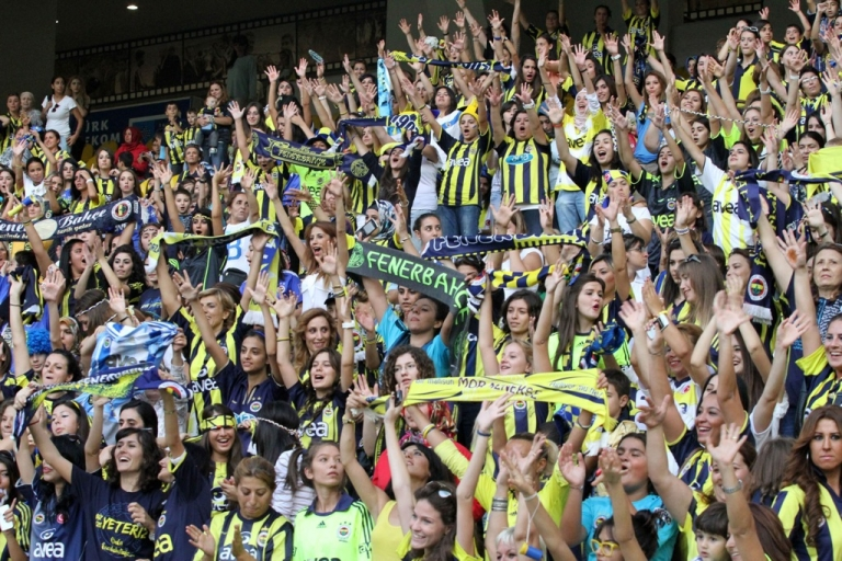 <p>41,000 women and children watch Fenerbahce play against Manisapor in a Turkish League football match at Sukru Saracoglu stadium in Istanbul on Sept. 20.</p>