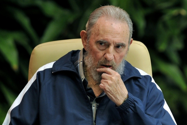 <p>The former Cuban leader</p>