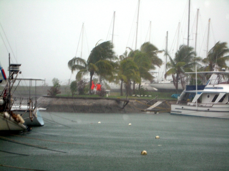 <p>Fiji is no stranger to flooding. Cyclone Mick, the first of the summer cyclone season in the South Pacific, lashed the Vuda Point Marina near Lautoka, Viti Levu, Fiji on December 14, 2009, forcing thousands of people from their homes and causing widespread flooding. The cyclone killed at least three people, destroyed homes and ruined crops.</p>