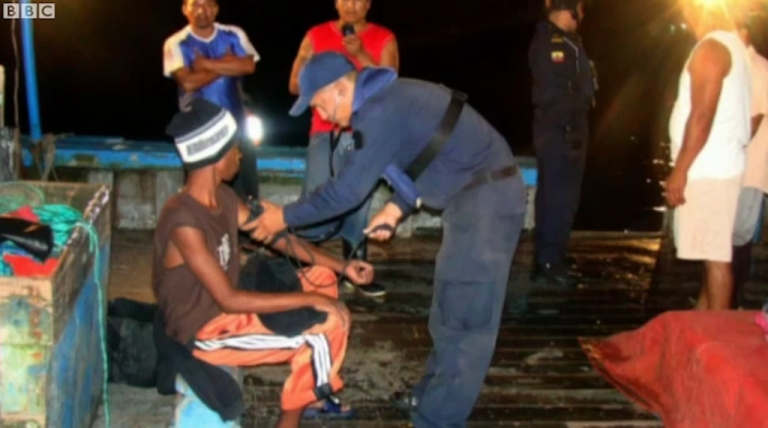 <p>Panama native Adrian Vasquez, 18, was rescued off the coast of Ecuador near the Galapagos Islands after 28 days adrift in a 10-foot fishing boat in the Pacific.</p>