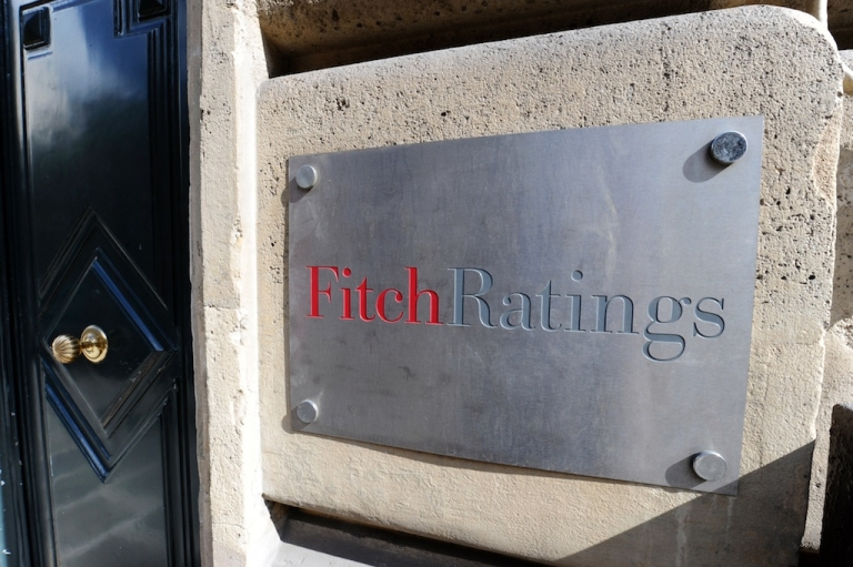 <p>The entrance of Fitch ratings agency in Paris.</p>