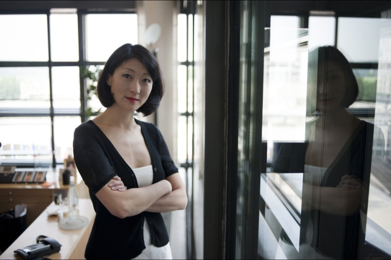 <p>French Junior Minister for SMEs, Innovations and Digital Economy, Fleur Pellerin poses at her office in Bercy on May 24, 2012 in Paris.</p>