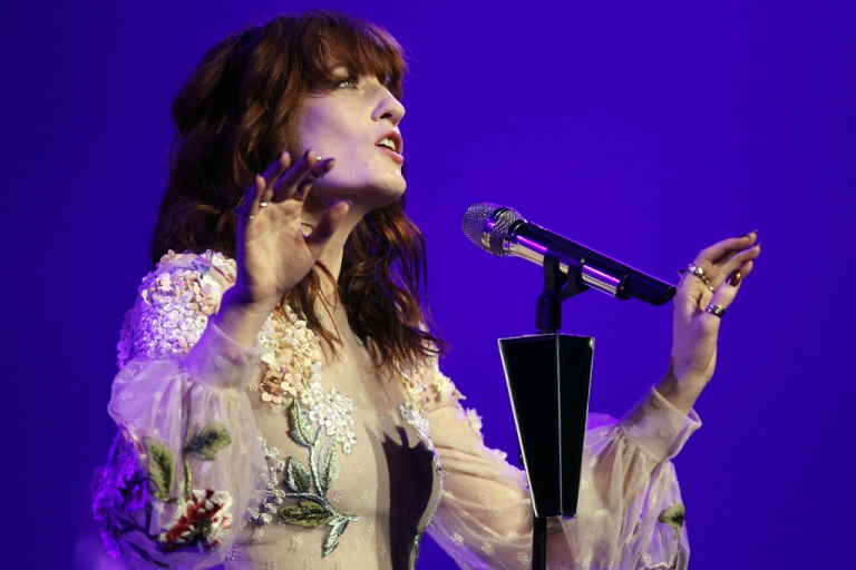 <p>Florence Welch of Florence + The Machine lost her voice, forcing the British band to cancel two European performances.</p>