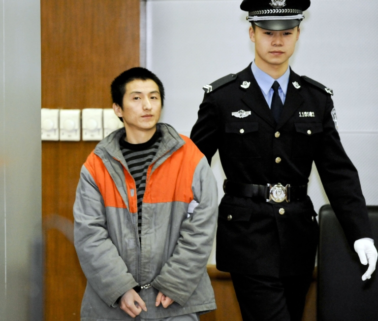 <p>Shi Baikui, a 27-year-old farmer from Shandong, was sentenced by a Beijing court on Monday after pleading guilty at a previous hearing.  He was also fined 13,000 yuan ($2,100).</p>