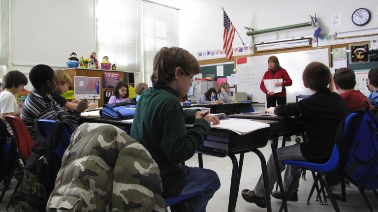 <p>American schoolchildren are lagging behind in maths and science.</p>