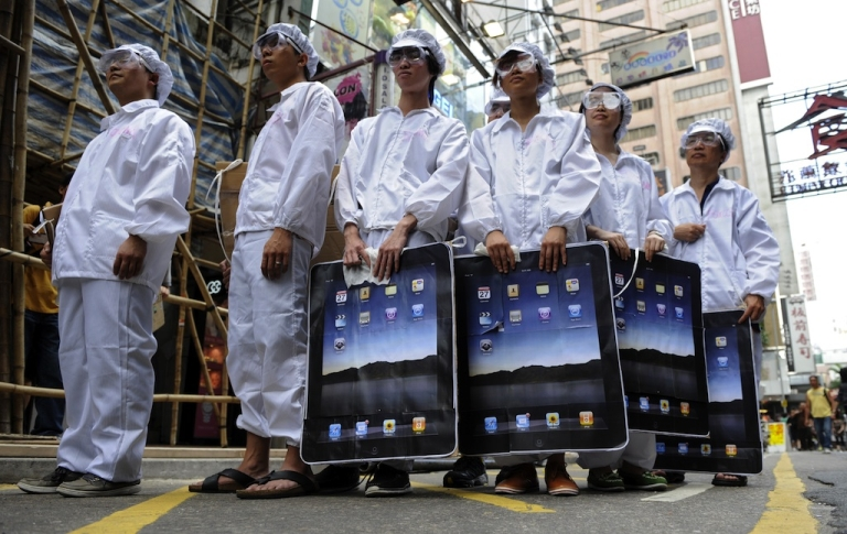 <p>Apple CEO Tim Cook said the company will start manufacturing an existing line of Mac computers in the USA. The majority of Apple products are currently assembled at the Foxconn factory in China.</p>
