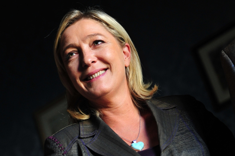 <p>French president of the Front National Far-Right party and candidate to the French 2012 presidential election Marine Le Pen in Rome on Oct. 22, 2011.</p>