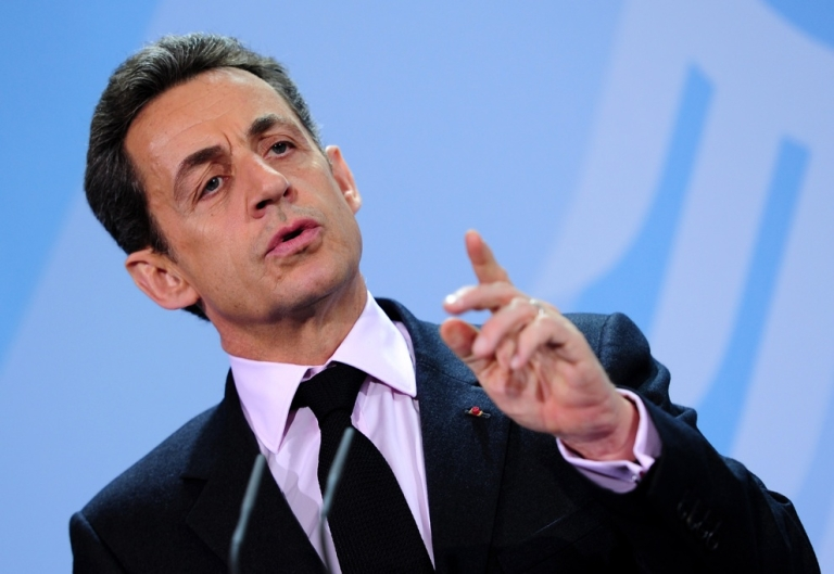 <p>French police searched the home and office of former French President Nicolas Sarkozy on July 3, 2012, in connection with a campaign finance probe.</p>