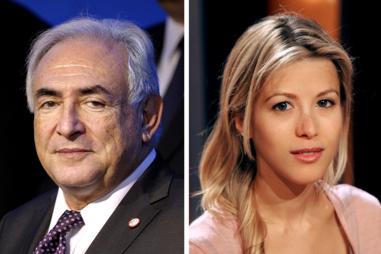 <p>Former International Monetary Fund Managing Director Dominique Strauss-Kahn (left) and French journalist and writer Tristane Banon (R), who will bring legal action this week for attempted rape against Strauss-Kahn.</p>
