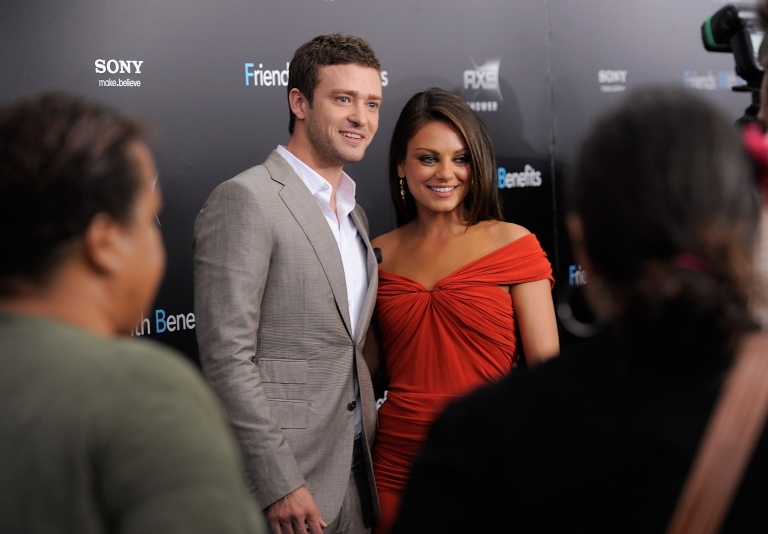 <p>Actors Justin Timberlake and Mila Kunis attend the 'Friends with Benefits' premiere at the Ziegfeld Theater on July 18, 2011 in New York City.</p>