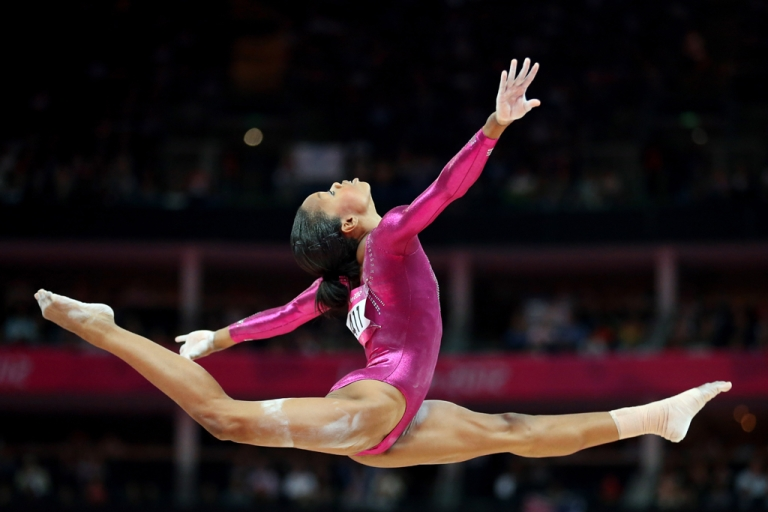 <p>Gabrielle Douglas of the United States competes on the balance beam in the Gymnastics Women's Individual All-Around final on Day 6 of the London 2012 Olympic Games at North Greenwich Arena.</p>