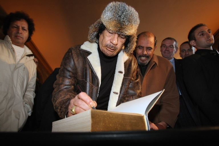 <p>Who else does Gaddafi write to?</p>