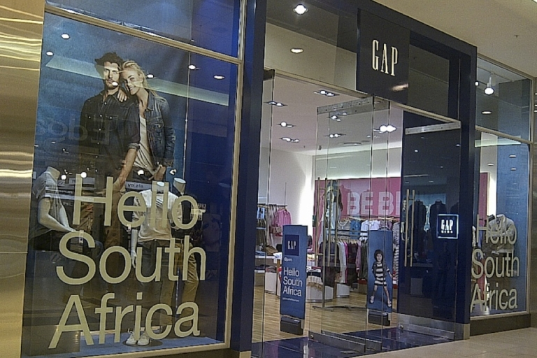 <p>The new Gap store in Johannesburg's Sandton City shopping mall.</p>