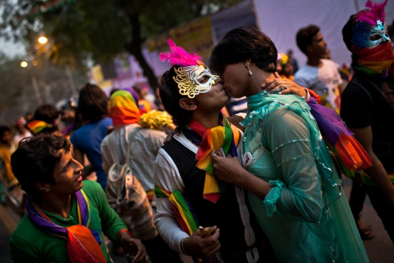 <p>Participants in the 4th Delhi Queer Pride 2011 March. The Indian LGBT community still faces discrimination and a legal status in limbo, despite positive steps.</p>