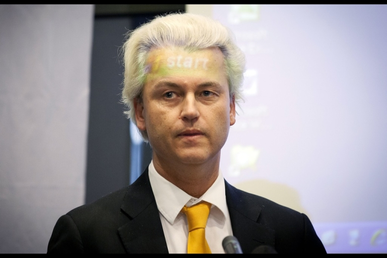 <p>Geert Wilders, head of the Dutch Freedom Party, is trying to get the Netherlands out of the euro and back to the guilder.</p>