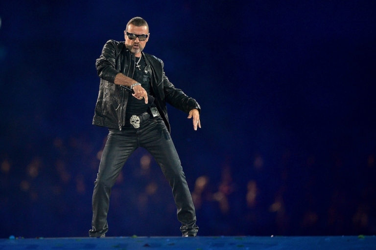 <p>George Michael performs during the Closing Ceremony on Day 16 of the London 2012 Olympic Games at Olympic Stadium on August 12, 2012 in London, England.</p>