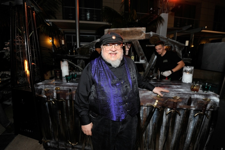 <p>George R.R. Martin attends the 'Game Of Thrones' HBO celebration party inside the WIRED Cafe at Palm Terrace At The Omni Hotel during Comic-Con International on July 13, 2012 in San Diego, California.</p>