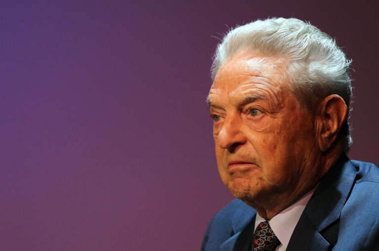 <p>George Soros, founder and chairman of the Open Society Institute and a billionaire investor, attends a forum addressing the global response to the flood in Pakistan at the Asia Society August 19, 2010 in New York City.</p>