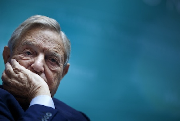 <p>Billionaire hedge fund manager and philanthropist George Soros, chairman of Soros Fund Management</p>