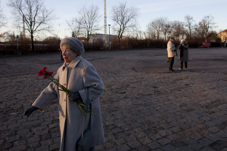 <p>A leftist sympathizer holds carnations at a memorial to 1920s-era assassinated German communists Rosa Luxemburg and Karl Liebknecht during an annual commemorative procession on Jan. 15, 2012 in Berlin, Germany. Die Linke is the successor party to the East German communist party and has sought to modernize itself to appeal to voters in both east and west Germany. The party is strongly represented in the Bundestag and in most state parliaments.</p>