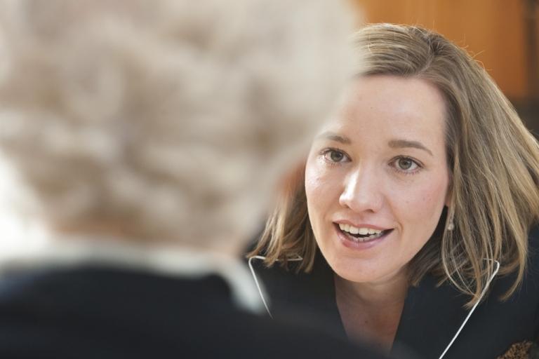 <p>Kristina Schroeder, with whom many German women disagree.</p>