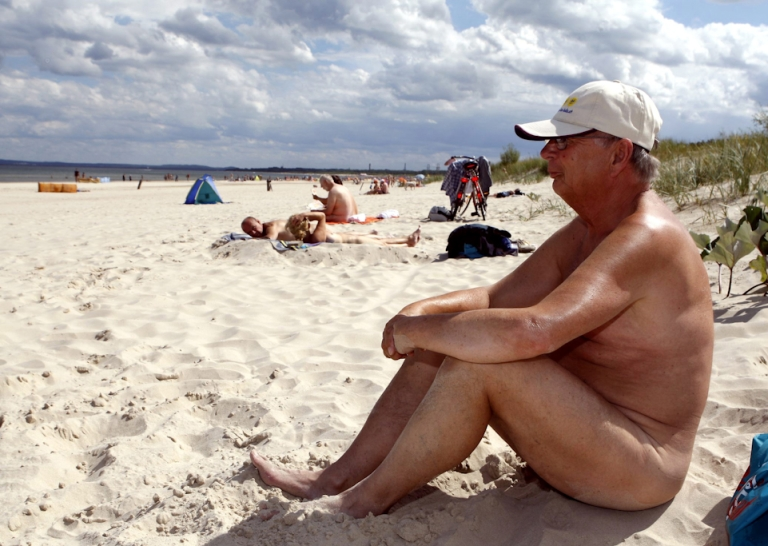 <p>Wisconsin on Tuesday shut down Mazomanie Beach, a nudist hotspot, during weekdays in a bid to curb illegal sex and drug use. Here, a man sits on a nudist beach on the Baltic Sea coast in northern Germany.</p>