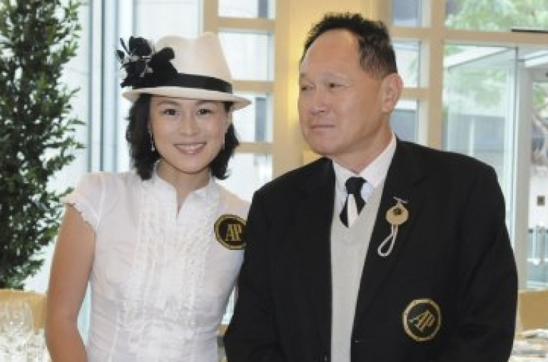 <p>Gigi Chao with father Cecil Chao, a Hong Kong tycoon and property developer. Cecil Chao has reportedly offered a HK$1 billion (about $100 million)