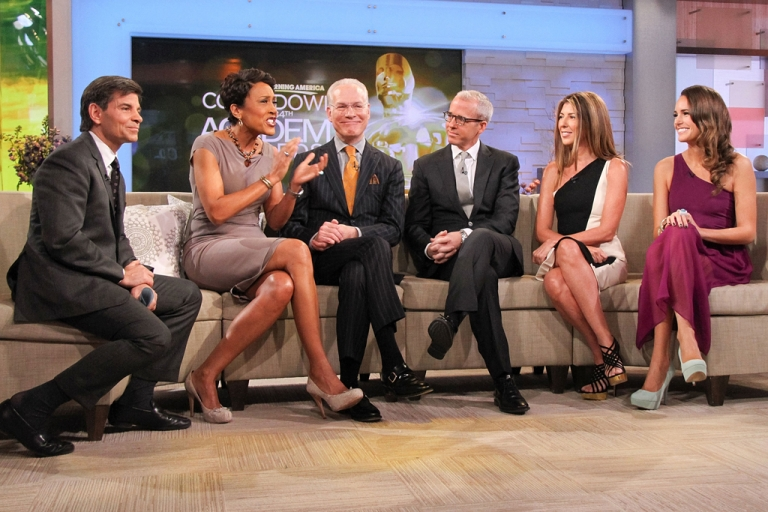 <p>George Stephanopoulos and Robin Roberts, the hosts of