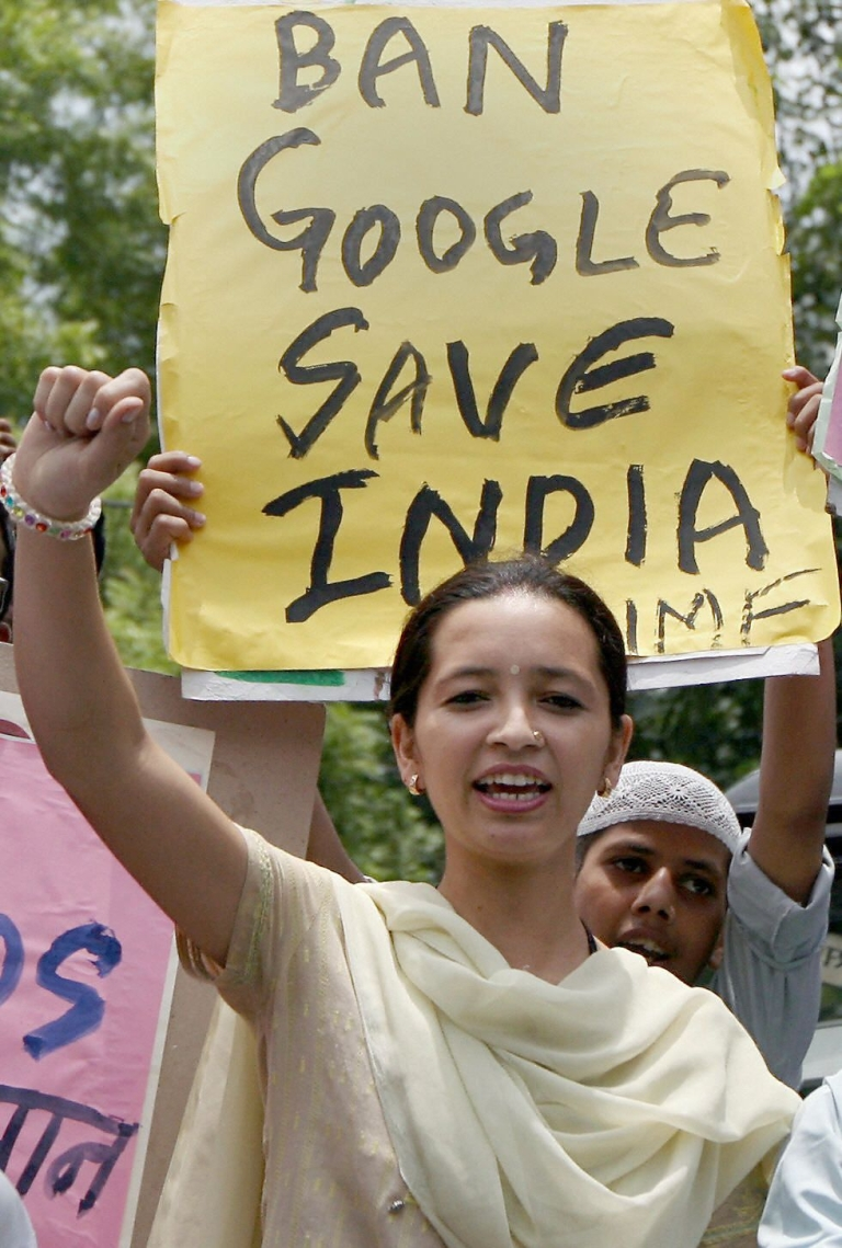 "<p>Google and Facebook are among 22 companies who have come under intense Indian government pressure to remove images, video or text considered ""anti-religious"" or ""anti-social.""</p>"