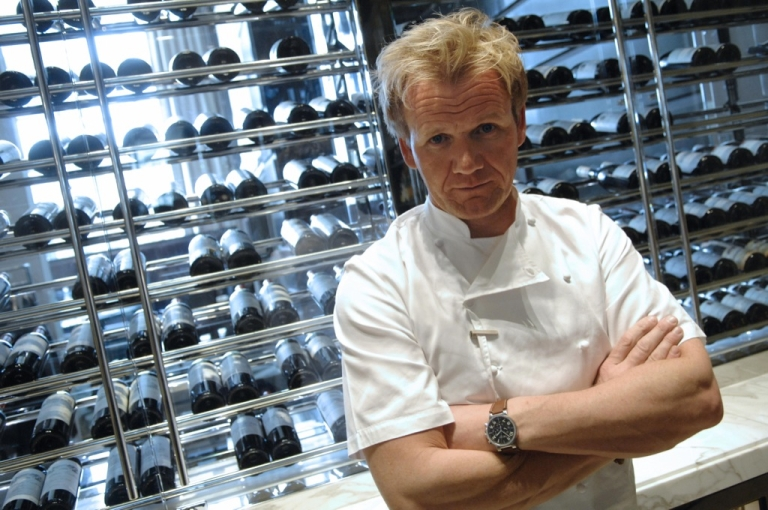 <p>A picture taken on March 20, 2008 shows British TV chef Gordon Ramsay, chef at