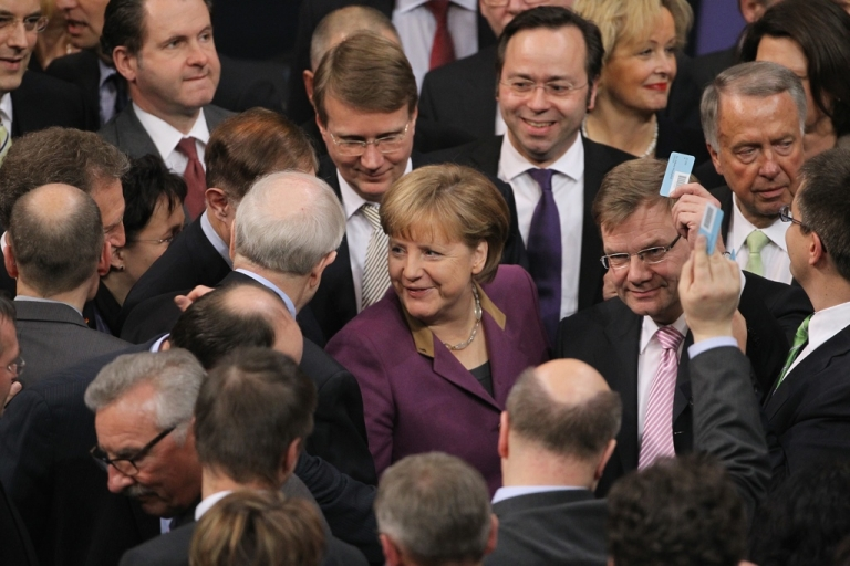 <p>Voting for the Greek bailout in the Bundestag.</p>