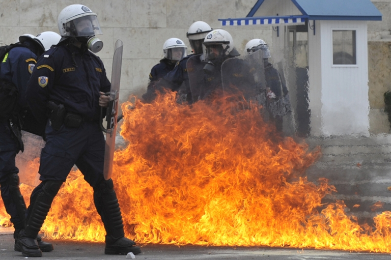 <p>The rioting has calmed down in Athens but negotiations on the Greek bail-out aren't going so well.  This week is crunch time and depnding on what's decided the streets may catch fire again.</p>