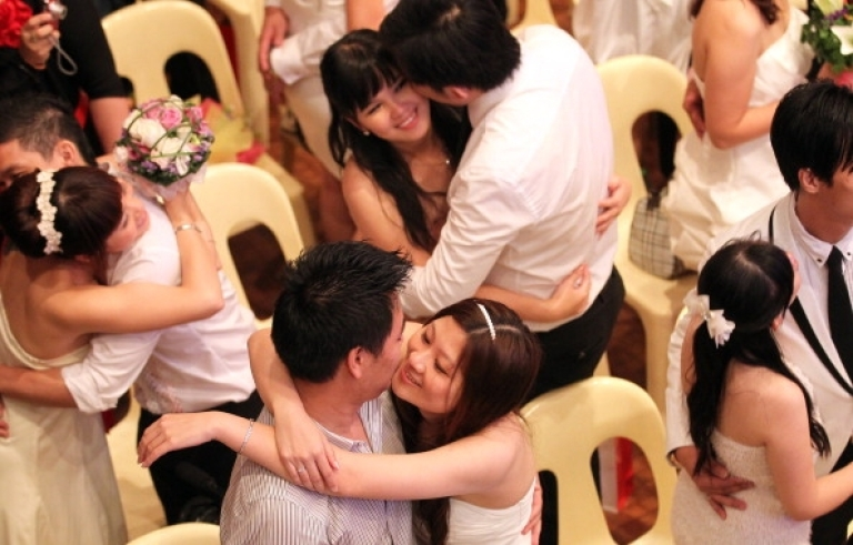 <p>You may now kiss the other bride.</p>