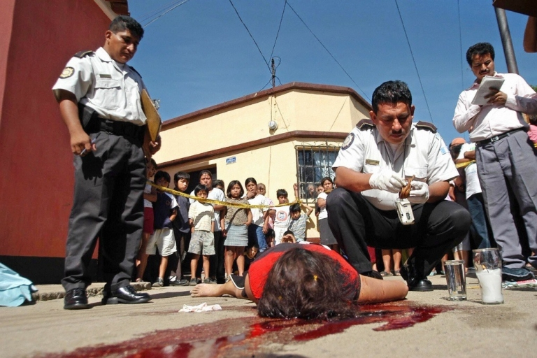 <p>A victim of a street gang in Guatemala.</p>