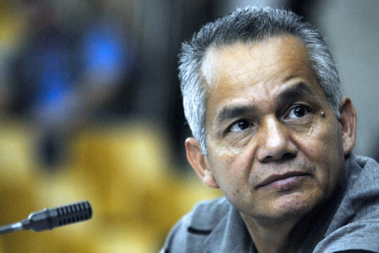 <p>Former Army Special Forces soldier Pedro Pimentel in Supreme Court of Justice in Guatemala City on March 12. The court handed him 6,060 years in prison for taking part in a 1982 massacre.</p>