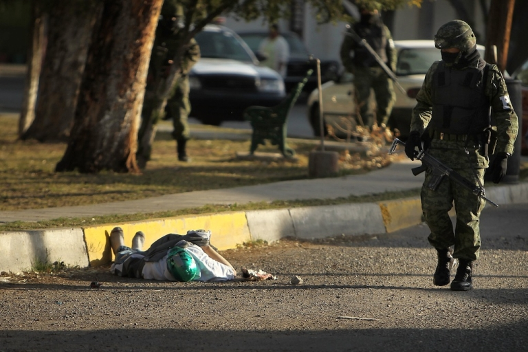 <p>Illegal guns are behind most of the violent deaths in Mexico</p>