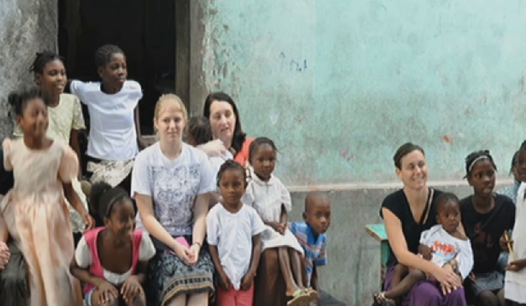 <p>Members of the First United Methodist Church visiting the Son of God orphanage last year. The group, along with five other Christian organizations accuse the orphanage of child neglect and corruption.</p>