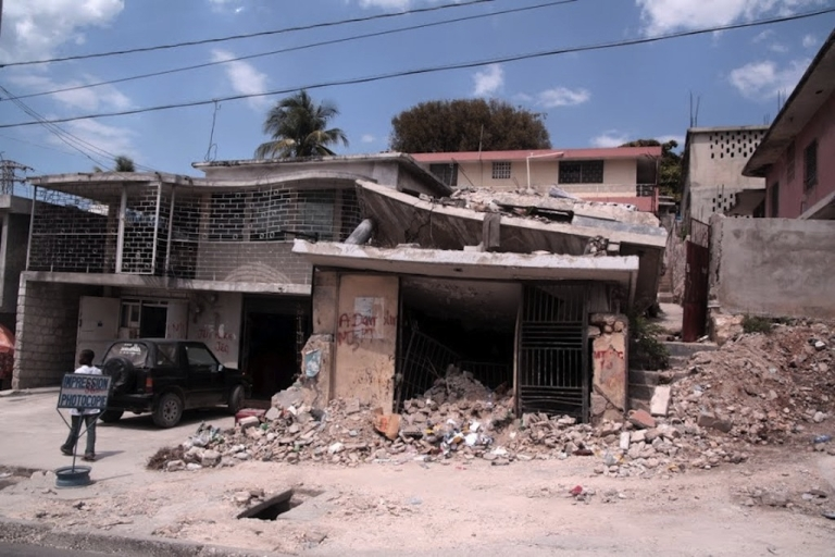 <p>Much of the rubble still lingers in Port-au-Prince, but soon many of the demolished homes will be replaced with seismically safe, eco-friendly dwellings.</p>
