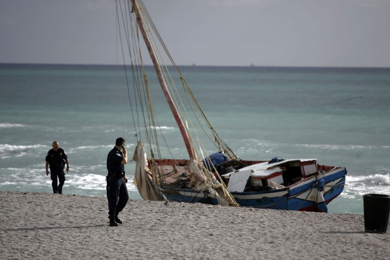 <p>Capsizing boats is an unfortunately common problems for migrants traveling by boat to the US. In 2007, one man died after a sailboat carrying more than 100 Haitian migrants landed in Miami.</p>