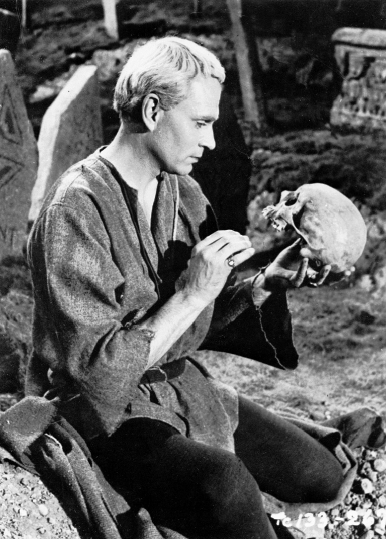 <p>Sir Laurence Olivier as Hamlet.  Was the Prince of Denmark crazy? or just in need of some psychotherapy?</p>