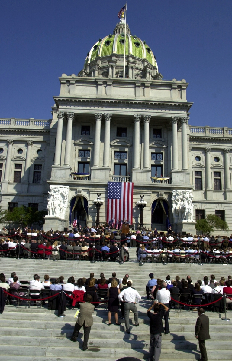 <p>The State Capitol Building in downtown Harrisburg, Pa., in 2001.</p>